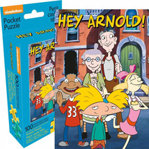 Hey Arnold Group 100 Piece Adult Pocket Puzzle Blue - $14.98