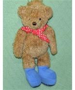 "13"" Gund RAMBLING TED Plush Teddy Bear Tan with Red Polka Dot Scarf Blue... - $19.80"