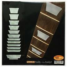 *Jockomo Mountain block inlays sticker affixed to (White Pearl) guitar - $13.25