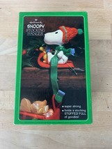 Vintage Hallmark Snoopy & Woodstock Stocking Hanger With Box - $19.99