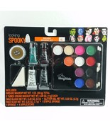 Deluxe Makeup Kit Costume Grease Makeup Halloween Glitter Gel Blood Spooky - $8.49