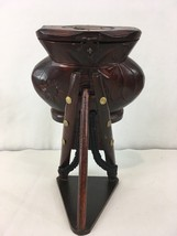 Vtg Hand Made Carved Floral Tower Hinged Lid Wood Coin Bank - $68.31