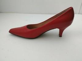 "Liz Claiborne Salsa Flex Cherry Red Leather Slip On 2"" Heels Womens sz 6 - $22.40"