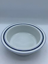 Rim Cereal Bowl New Scandia by DANSK Lattice Blue Band Width 6 3/4 in  - $13.09