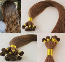 20″ Hand-Tied Weft Hair, 100 grams,100% Human Remy Hair Extensions # 6 - $202.94