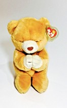 Ty Beanie Babie Plump Body Collectible Hope Praying Bear 1999 Stuffed Animal Toy - $9.89
