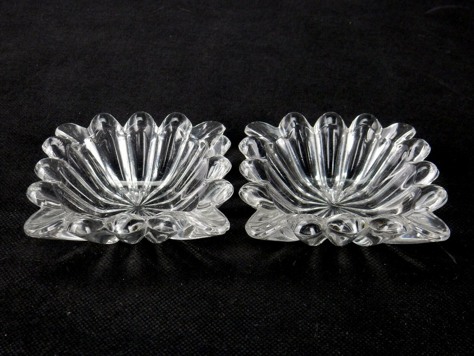 "Primary image for Pair of Heisey Crystolite #1503 3.25"" Square Ashtrays or Pin Dishes"