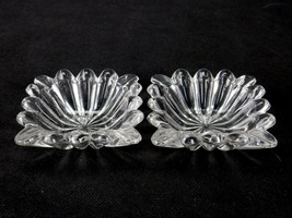"Pair of Heisey Crystolite #1503 3.25"" Square Ashtrays or Pin Dishes - $12.69"