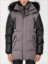 new Noize men coat jacket parka hooded 5201821141 faux fur vegan black XL - $94.44