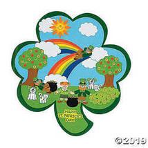 Shamrock-Shaped St. Patrick's Day Sticker Scenes - $6.49
