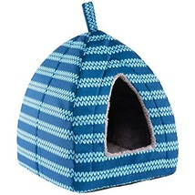 Hollypet Self-Warming 2 in 1 Foldable Comfortable Triangle Cat Bed Tent ... - $13.69