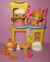 Littlest Pet Shop LPS Cat Kitten #153 #194 #110 #649 Kitty Popular Play Set Lot - $25.00