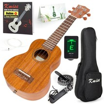 Kmise Soprano Ukulele 4 String Vintage Beginner Ukuleles Right Handed Na... - $103.27