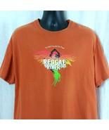 Reggae on the River Security Mens XL Orange Shirt 29th Annual 2013 Unisex - $34.99