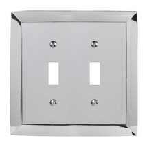 Amerelle Studio Double Toggle Cast Metal Wallplate in Polished Chrome - $10.15