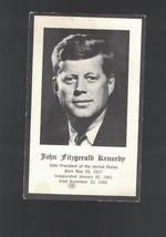 John Fitzgerald Kennedy JFK Catholic Prayer Card 1963 Assassination  - $10.08