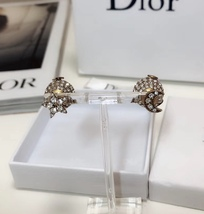 """Authentic Christian Dior Tribal Earrings """"DIOR TRIBALES"""" Crystal Moon Star Gold image 2"""