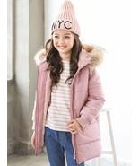 Girl's Pink Fur Trimmed Hood Thick Winter Coat - $54.95