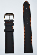 Original Tissot QUICKSTER 19mm Black Leather Watch Band Strap For T095417 - $65.12