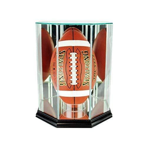 Perfect Cases NFL Upright Octagon Football Glass Display Case, Black
