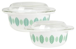 Now Designs Modglass Retro Glass Bakeware, Set of Two, Planta Design - $52.29