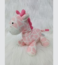 "8"" Carters Giraffe Baby Lovey Rattle 62285 Pink White Plush Girl Toy B350 - $9.99"