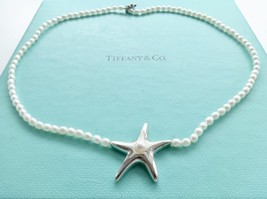 Authentic Tiffany and Co. Starfish Pearl Sterling Silver Necklace - $265.00