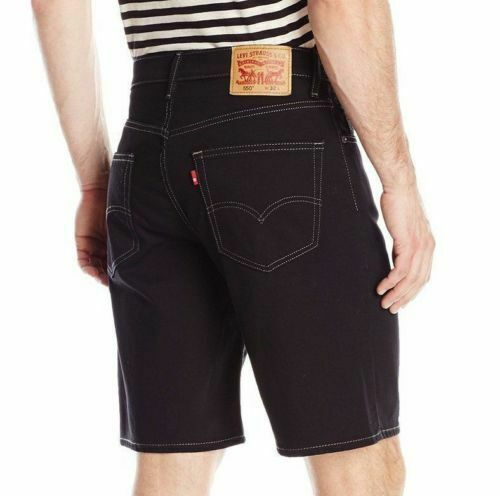 Levi's Men's 550 Cotton Denim Shorts Regular Straight Fit Black 35550-0097