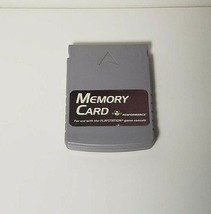 PlayStation 1 Memory Card  1 MB PSI Grey Tested & Works - $9.85 CAD