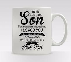 Personalised Amazing Son Mug Cup Tea Coffee Birthday Christmas Gift size... - $12.38