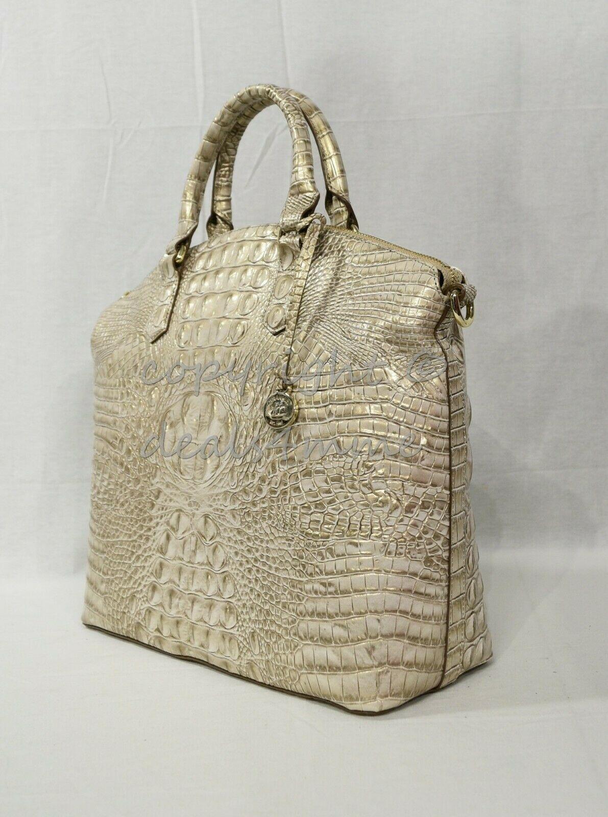 Brahmin Large Duxbury Leather Satchel/Shoulder Bag Sugar Cane Melbourne image 3