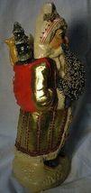 Vaillancourt Folk Art Gold European Father Christmas, signed by Judi! Last one! image 4