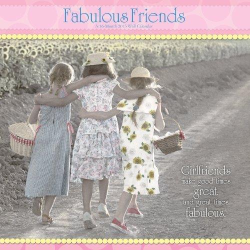 Gail Goodwin Fabulous Friends 2013 Linen Wall Calendar DateWorks