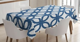 Woven Rope Tablecloth Ethnic Geometric Twist Art Dining Table Linen Cove... - $22.49