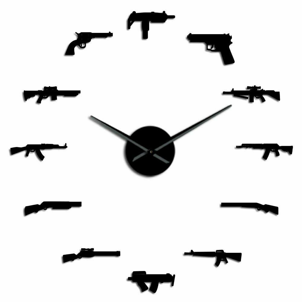 Primary image for Guns Weapon Pistol DIY Wall Clock Revolver Gun Army Military Theme Decor Gift