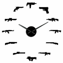 Guns Weapon Pistol DIY Wall Clock Revolver Gun Army Military Theme Decor... - $36.40+