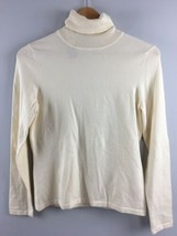 Talbots Turtleneck Ivory PM Medium Petite Cotton Blend NWT - $27.72