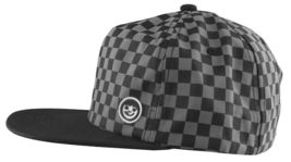 Neff Mens Black/Grey Bogie Checker Adjustable Snapback Hat Cap One Size NEW image 4