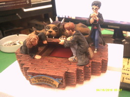ENESCO HARRY POTTER through the trapdoor lighted figurine-FREE SHIPPING - $40.00