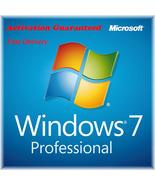 Microsoft Windows 7 Professional Pro Product Key 32/64 Bit & Download Links - $8.80