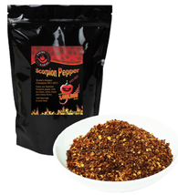 Scorpion Pepper Flakes - Crushed Scorpion Butch T Peppers - $24.70+
