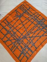 Hermes Bolduc Scarf Stole Orange Ribbon by Jean-Louis Dumas Silk Auth Ra... - $10.283,02 MXN