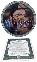 Remembering Christmas Past Plate Christmas Carol Lloyd Garrison 1993 Col... - $44.55