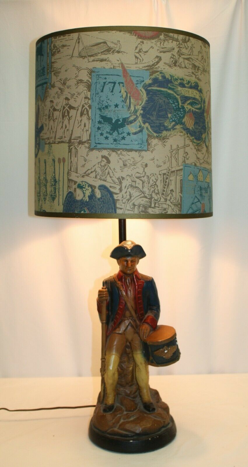 Primary image for Plasto Mfg Co Lamp 1960 Revolutionary War Soldier