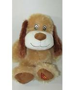 Pet Smart Chance superman foot logo tan brown Squeaker Plush Dog Luv a Pet - $17.81