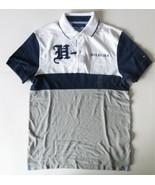 Tommy Hilfiger Mens Polo Short Sleeve Shirt Blue Gray White Size Medium NWT - $38.79