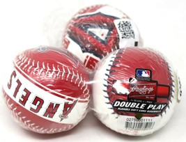 Los Ángeles Anaheim Angelss Rawlings Doble Juego Suave Core Baseballs 3-Pack New - $9.48
