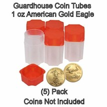 Square Coin Storage Tubes for 1oz American Gold Eagles by Guardhouse 5 pk - $7.49