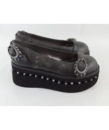 Metropolis Steampunk KittyHawk Shoes Spike Gray Flats 7 - $56.09