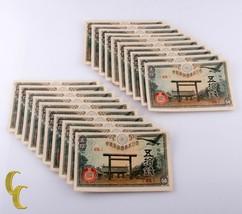 1945 Giapponese 50 Sen Banconote Lotto di 20 Pezzi Tutti Fior Conio Cond... - $74.25